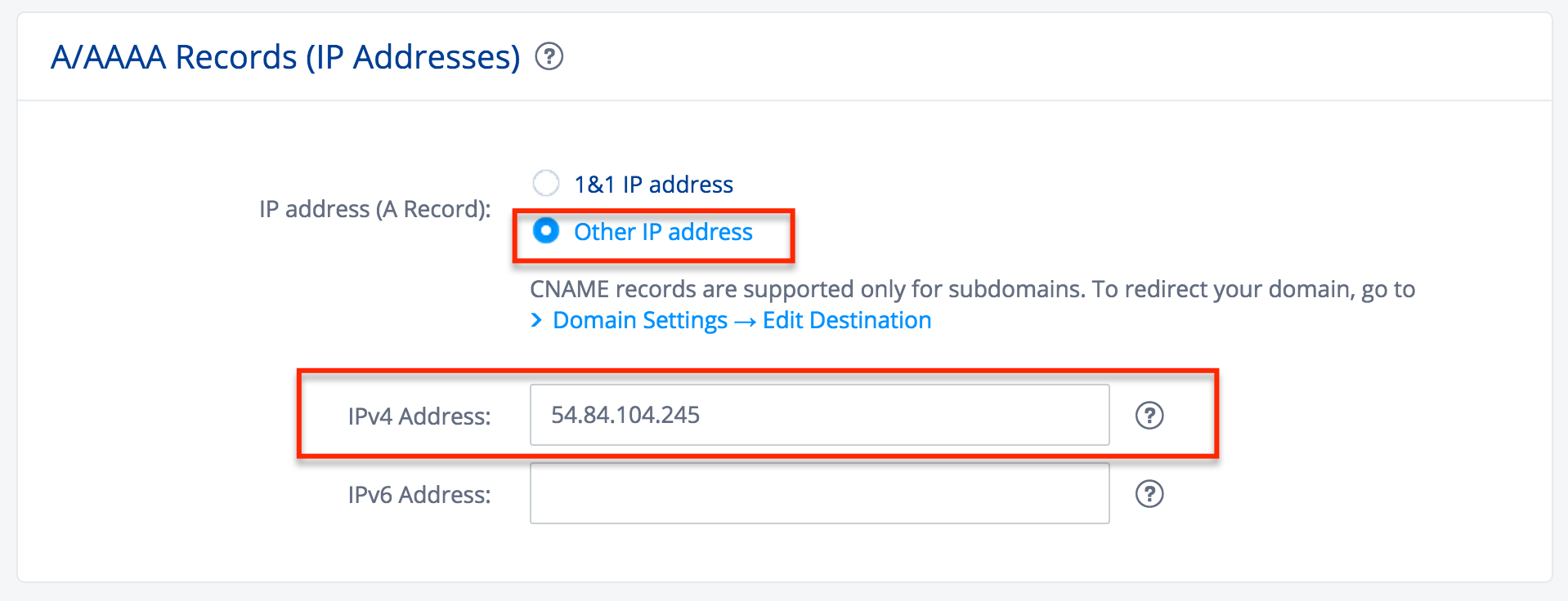 how to add cname record for subdomain
