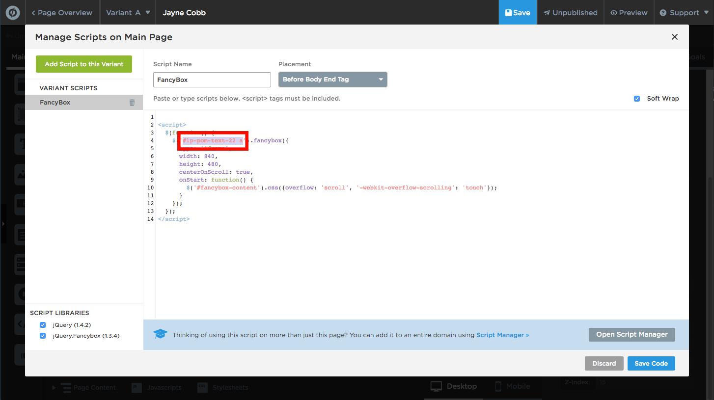 Añadir y Editar Botones y Páginas de Confirmación – Documentación