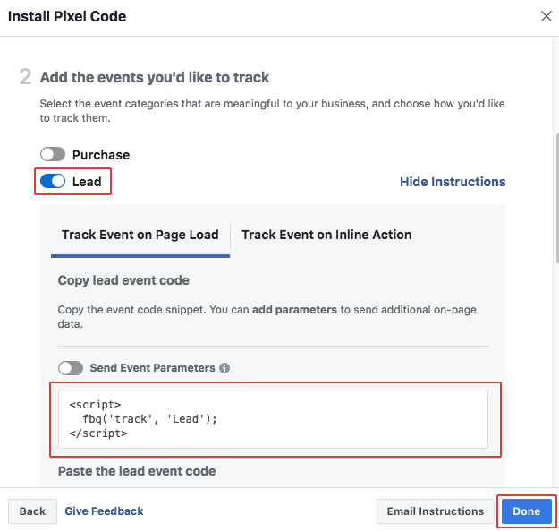 Integrating With The Facebook Pixel Documentation
