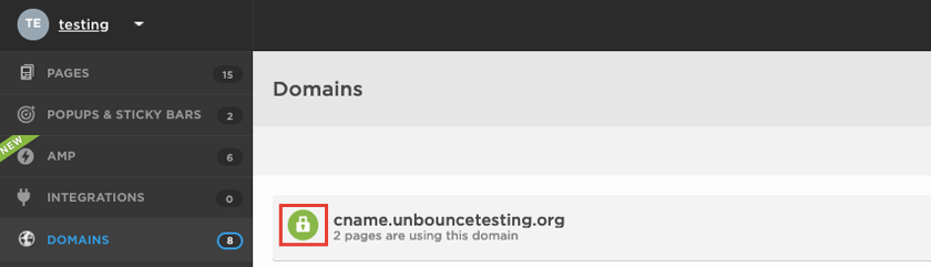 How Do I Secure my Landing Page Domain with SSL? – Documentation