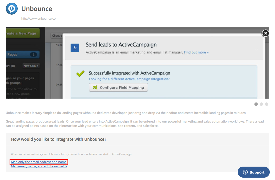 Sending Leads to ActiveCampaign ('name' and 'email